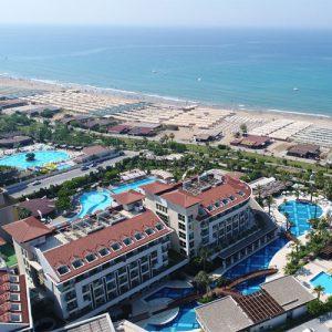 bovenaanzicht evren beach resort